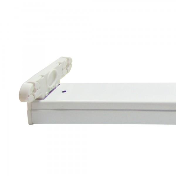 Regleta led ip20 p/2tubos led 18w.120cm
