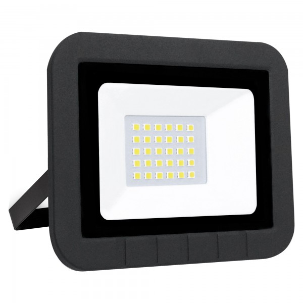 Proyector led plano negro   10w.fria