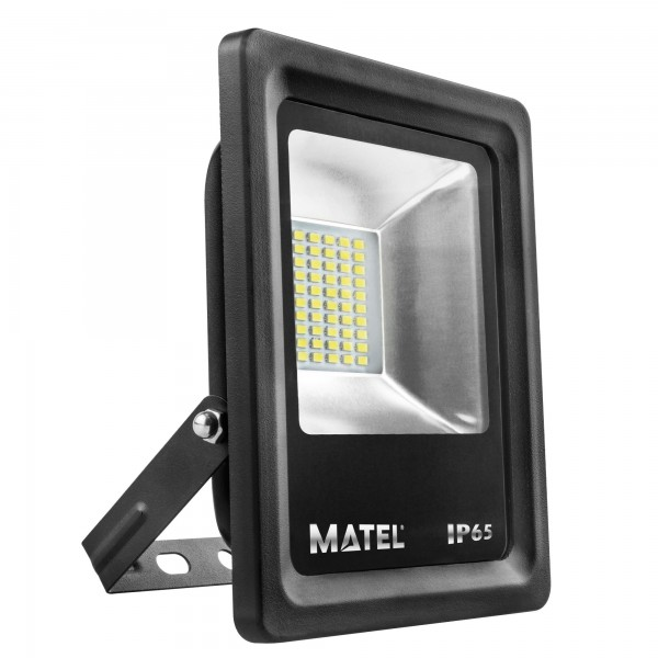 Proyector led negro  10w.fria