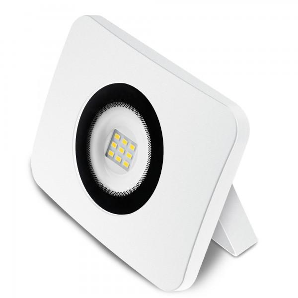 Proyector led alum.fundido blanco  10w.f