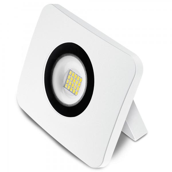 Proyector led alum.fundido blanco  20w.f