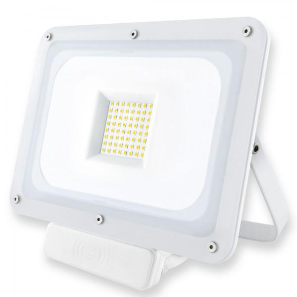 Proyector led sensor blanco  50w.fria