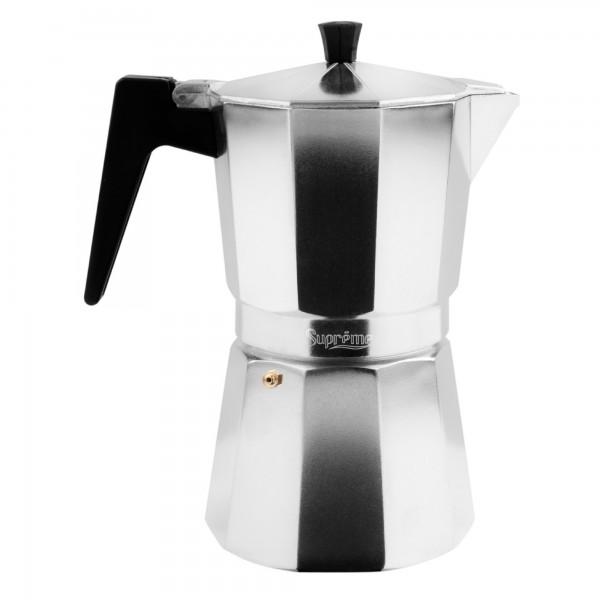 Cafetera supreme aluminio gris  6 t.