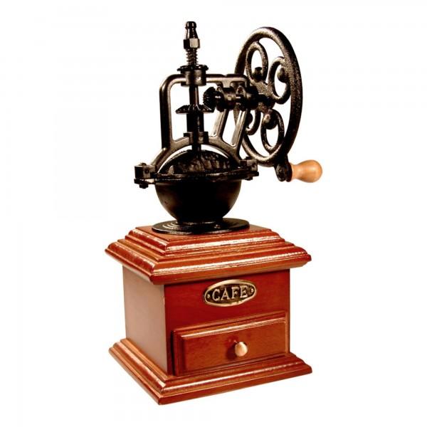 Molinillo cafe madera rueda forja