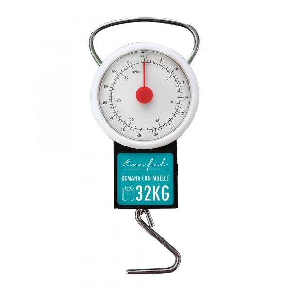 Romana muelle 32 kg. reloj y flexometro