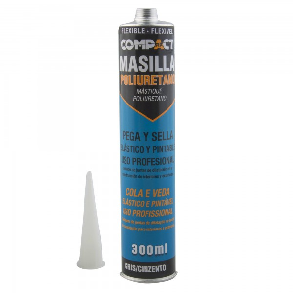 Masilla poliuretano flexible 310 gris