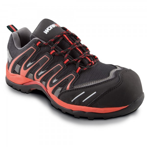 Zapato seg. workfit trail rojo n.47