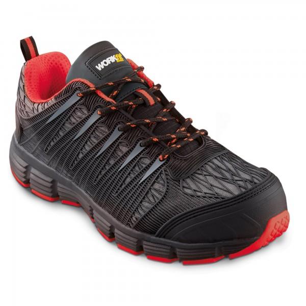 Zapato seg. workfit spider rojo n.44