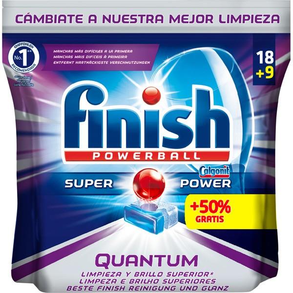 Finish quantum pastillas lavavajillas 18 + 9 pastillas gratis