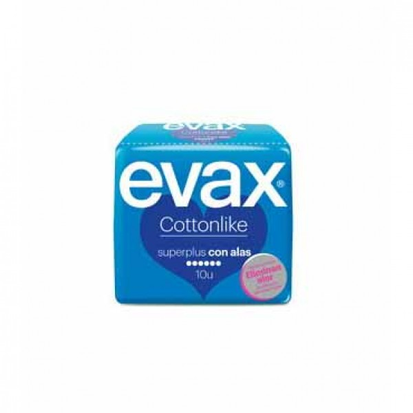 Compresas evax cottonlike super plus con alas 10 uds.