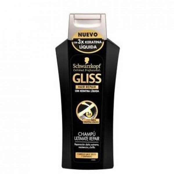 Schwarzkopf champú gliss ultimate repair keratina líquida 250ml