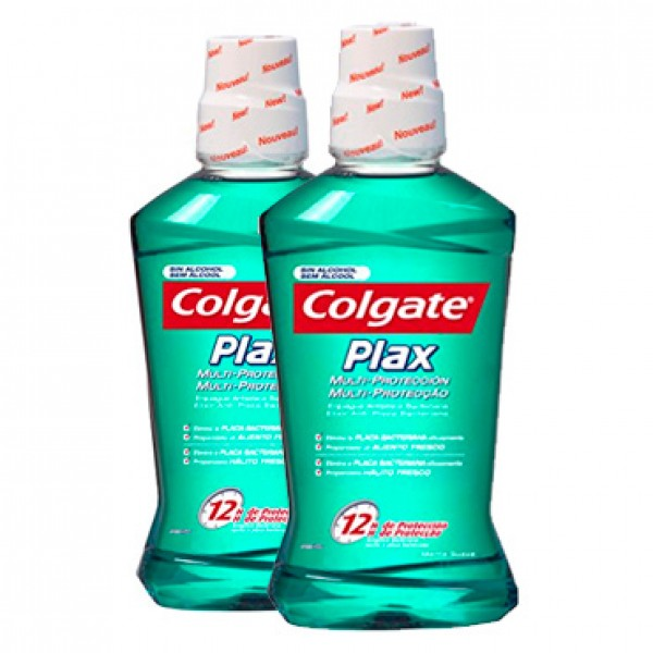 Colgate enjuague plax 500ml +1 gratis