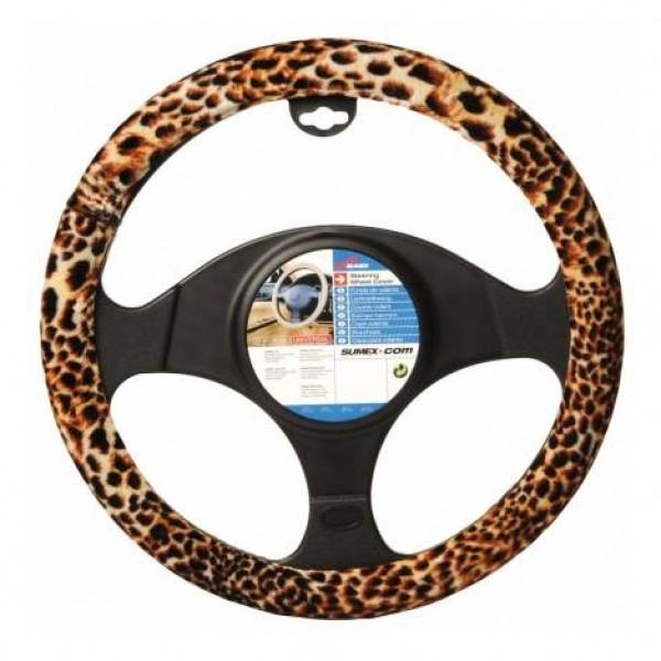 Funda volante terciopelo leopard look