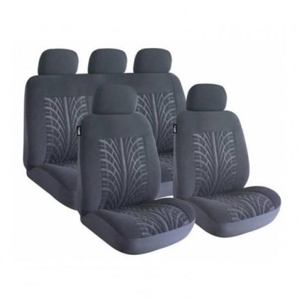 Fundas asientos textiles negro road master