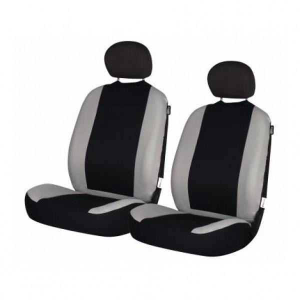 Funda textil para asientos delanteros road negra - gris