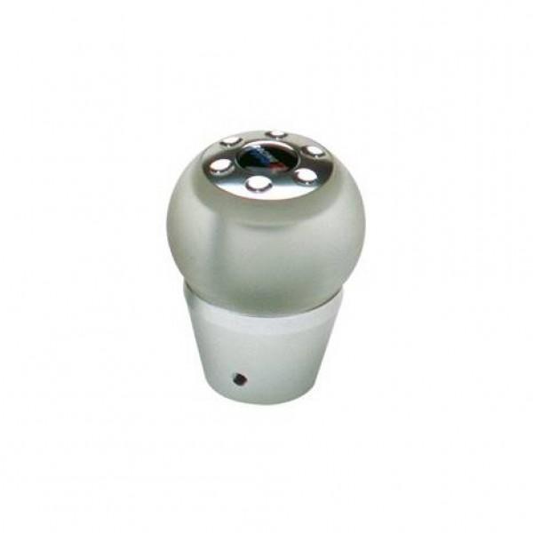 Pomo cambio aluminioluz azul leds 12v. esférico