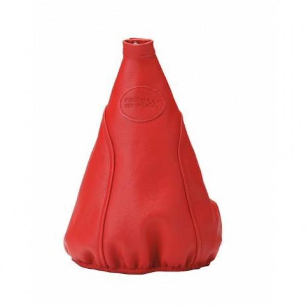 Funda palanca cambio piel natural. rojo