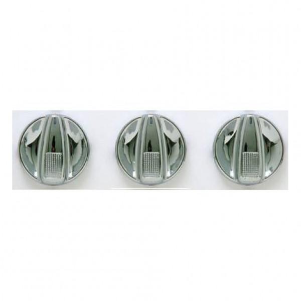 Selectores climatización seat/vw. cromado