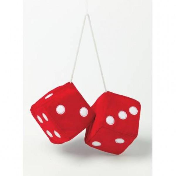 "Dados decorativos ""jumbo size"" rojos.9x9 cm."