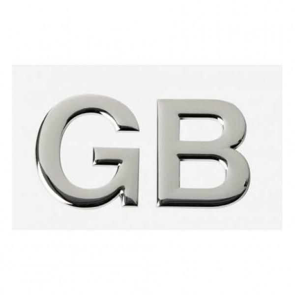"Emblema "" gb "" cromado. 58x47 mm."