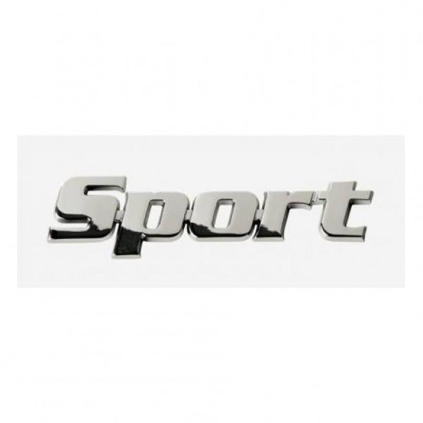 "Emblema "" sport "" cromado. 22x85 mm."