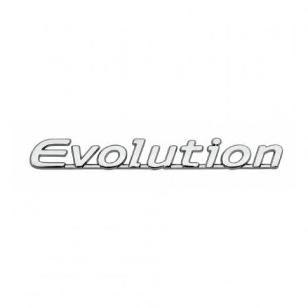 "Emblema "" evolution "" cromado 146x18 mm"