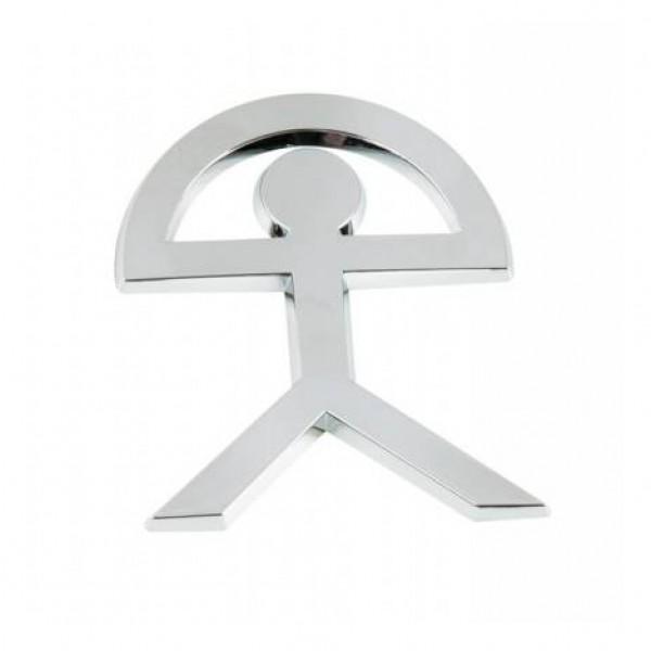 "Emblema "" indalo "" cromado. 55x70 mm."