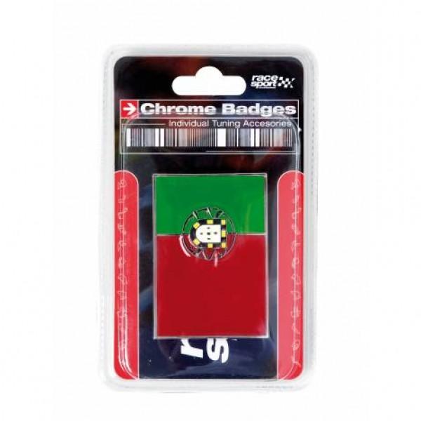 "Emblema ""portugal"" cromado 71x46mm"