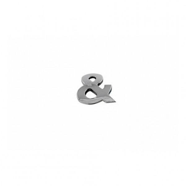 Simbolo ampersand cromado