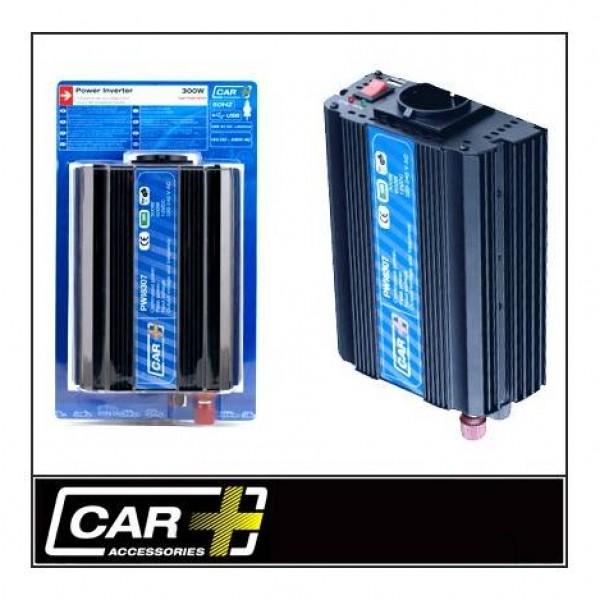 Convertidor power inverter 600w con/usb y homologación tüv. transformador de corriente de 12v a 220/240v