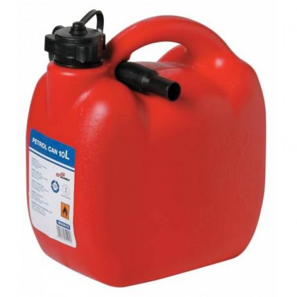 Bidón gasolina 10 litros homologado con tubo flexible