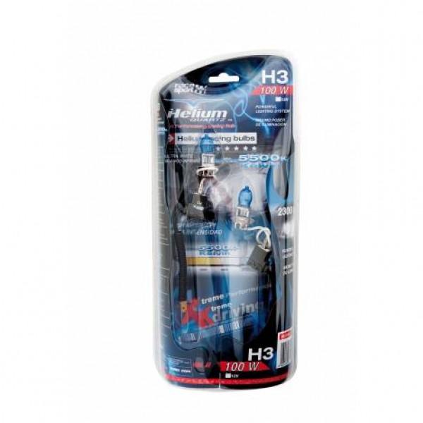 "Estuche bombilla ""helium quartz"" h3 12v 100w. 2ud"