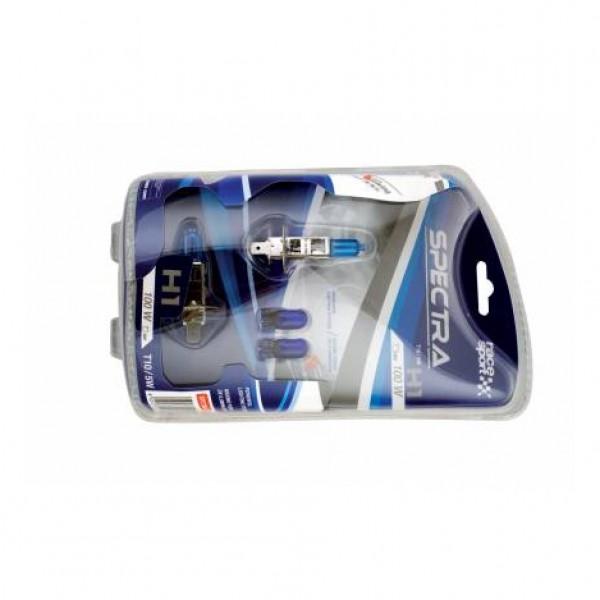 "Set bombillas ""spectra"" h1 12v 100w + t10 azul"
