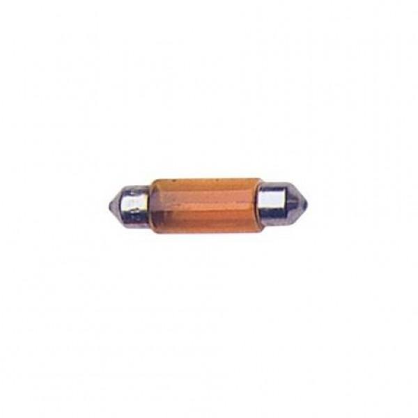 Lámpara plafonier 12v t11x35 5w sv8.5d ambar. caja 10 uds