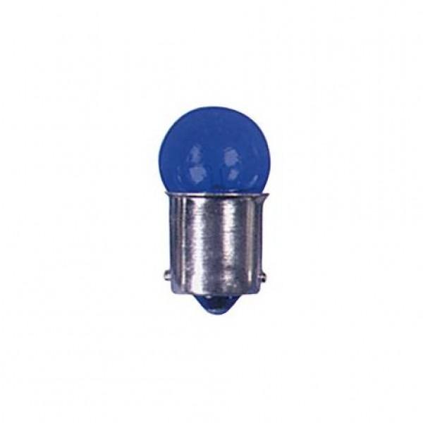 Lámpara piloto 12v 5w ba15s azul. caja 10 uds