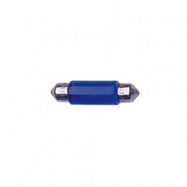 Lámpara plafonier 12v t11x35 5w sv8.5d azul. caja 10 uds