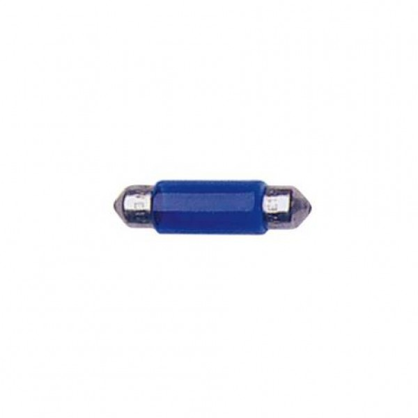 Lámpara plafonier 12v t11x35 10w sv8.5d azul. caja 10 uds.