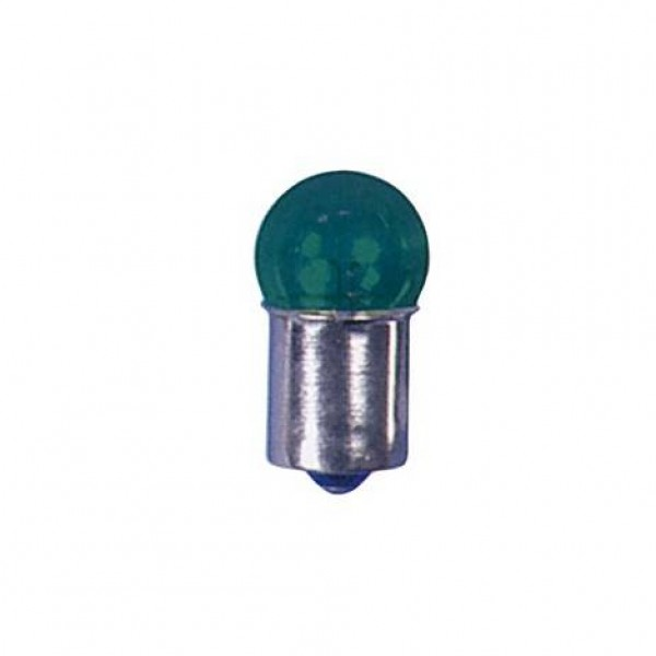 Lámpara piloto 12v 5w ba15s verde. caja 10 uds