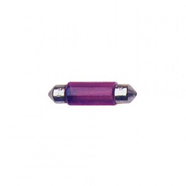 Lámpara plafo. 12v t11x41 10w sv8.5d violeta. caja