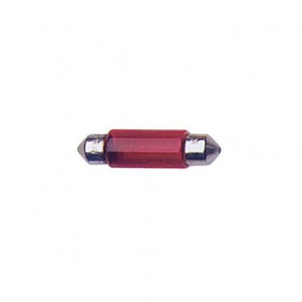 Lámparas plafonier 12v t11x35 5w sv8.5d roja.blister 2 ud
