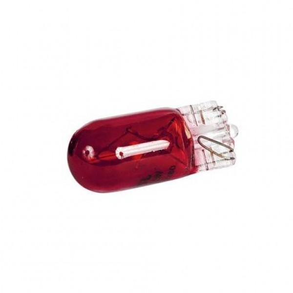 Lámpara wedge 12v 5w (t10) w2.1x9.5d roja. blister