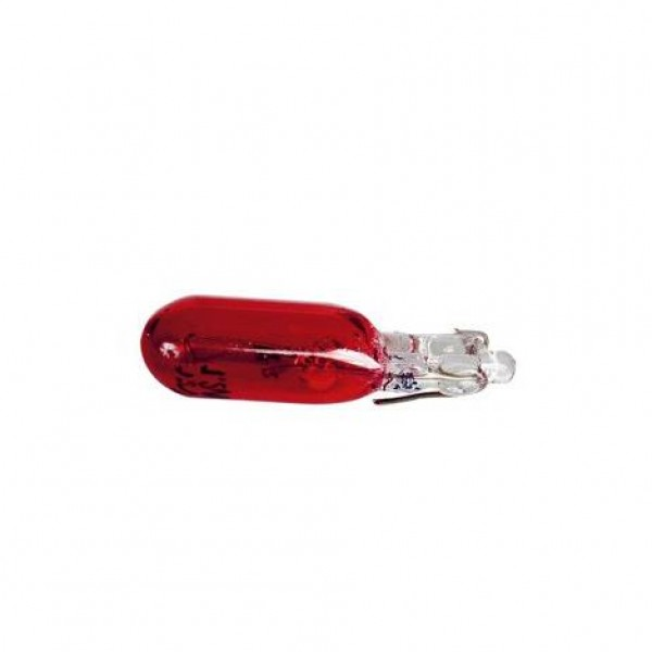 Lámparas wedge 12v 1.2w (t5) w2x4.6d roja.blist 2 unidades