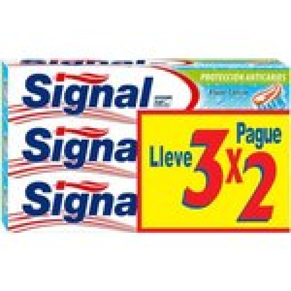 Signal dentífrico  anticaries 3x2 75ml