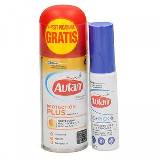 Autan pack repelente protección plus antimosquitos 100 ml + spray post picadura