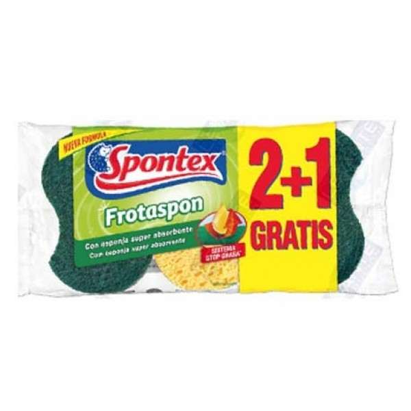 Spontex frotaspon 2+1 gratis