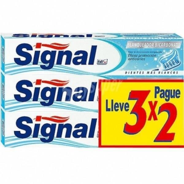 Signal blanqueador bicarbonato 3x2 de 75ml