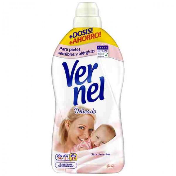 Suavizante Vernel delicado 57 dosis