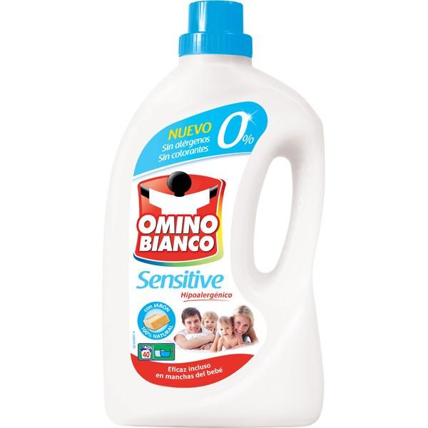Omino bianco detergente máquina líquido sensitive 40 dosis