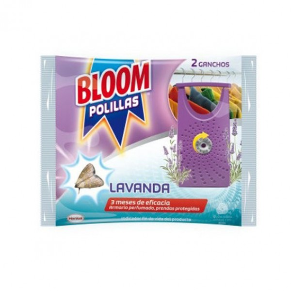 Bloom antipolillas lavanda 2 ganchos