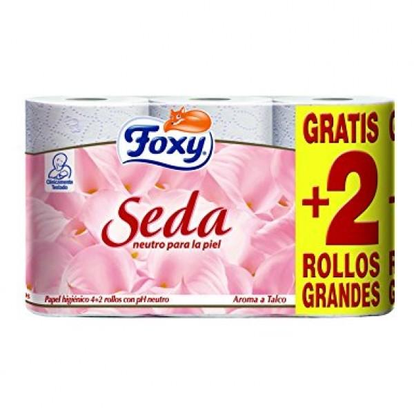 Foxy seda papel higienico 4+2